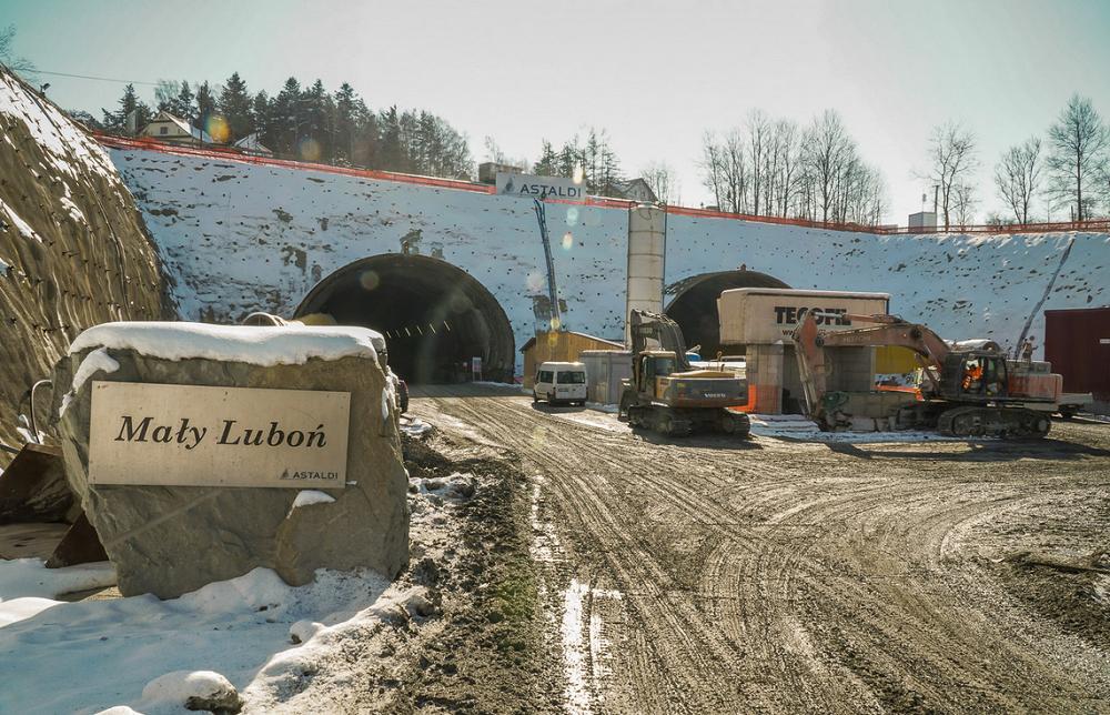 Góra Budowa S7 Kraków–Rabka-Zdrój - prace zbliżają się do półmetka  EX-85