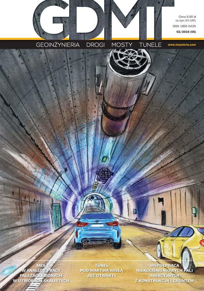 Czasopismo GDMT geoinżynieria drogi mosty tunele 2/2016 [55]