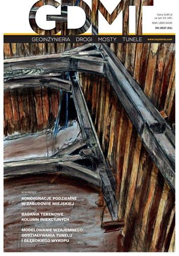 Czasopismo GDMT geoinżynieria drogi mosty tunele 4/2017 [61]