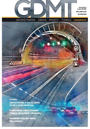 Czasopismo GDMT geoinżynieria drogi mosty tunele 1/2018 [62]