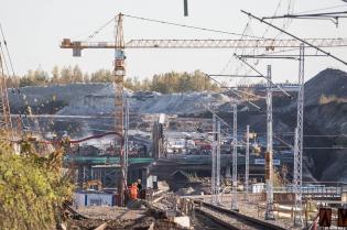 Budowa Trasy Łagiewnickiej. Fot. trasalagiewnicka.krakow.pl