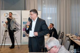 Dyskusja podczas II Konferencji CIPP Technology Days 2018. Michał Andrzejewski, Gamm-Bud sp. z o.o. / fot. Quality Studio dla www.inzynieria.com