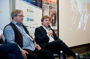 Dyskusja podczas II Konferencji CIPP Technology Days 2018. Od lewej: Jan Krasowski, KrasoTech GmbH; Rafał Chart, Insituform sp. z o.o. / fot. Quality Studio dla www.inzynieria.com