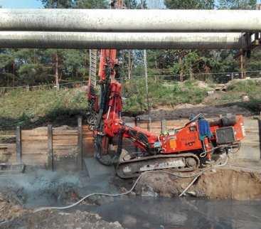Wykonanie głębokiej komory naprawczej dla rurociągu DN800 z zastosowaniem iniekcji strumieniowej avatar
