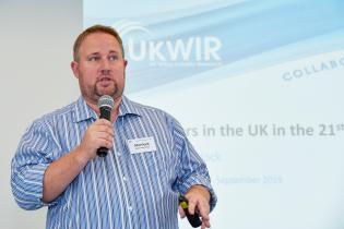 """Alex Mortlock, UKWIR. Międzynarodowa Konferencja """"Kanalizacja XXI w."""". Fot. Henning Winter IKT"""
