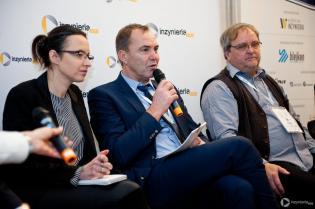 Dyskusja podczas II Konferencji CIPP Technology Days 2018. Od lewej: Christian Hartl, Grupa RTi; Jan Krasowski, KrasoTech GmbH / fot. Quality Studio dla www.inzynieria.com