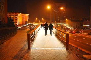 Pierścieniowa kładka dla pieszych w Rzeszowie. Fot. z archiwum Skanska S.A.