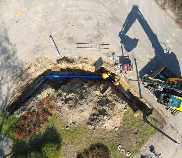 Budowa sieci wod-kan w ogrodzie zoologicznym w Poznaniu
