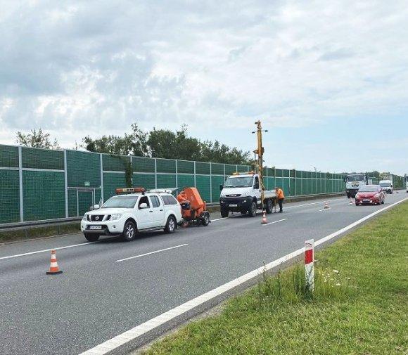 Odwierty na odcinku autostrady A1. Co się stało?