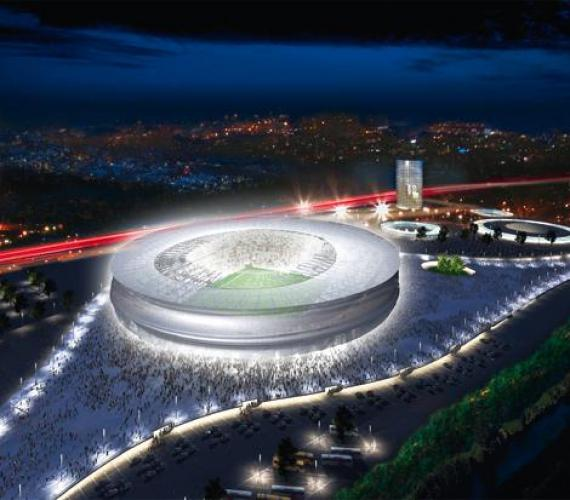 Fot. 1. Wrocławski stadion - widok z lotu ptaka