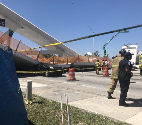 Floryda: zawalił się most w Miami
