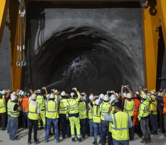 W Albanii po raz pierwszy wydrążono tunel za pomocą maszyny TBM
