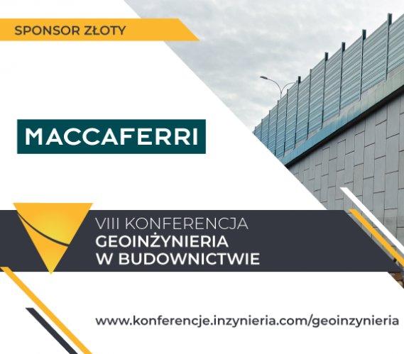 """MACCAFERRI POLSKA Sponsorem Złotym """"Geoinżynierii w Budownictwie"""" 2018"""