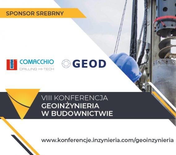"""Comacchio i GEOD w gronie Sponsorów Srebrnych konferencji """"Geoinżynieria w Budownictwie"""""""