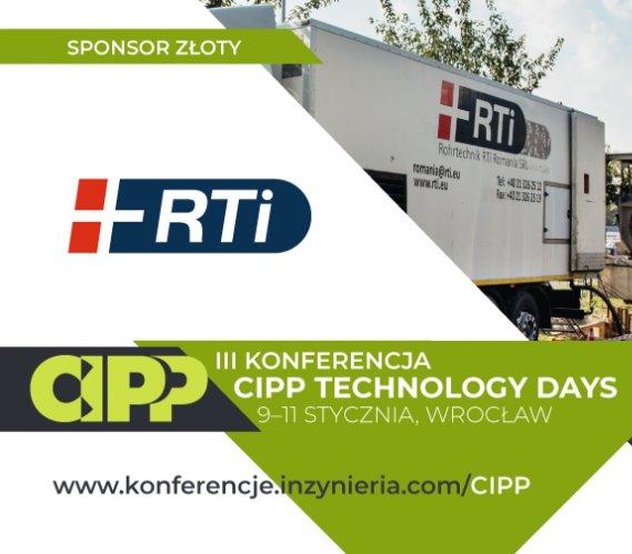 RTi Poland Sponsorem Złotym CIPP Technology Days