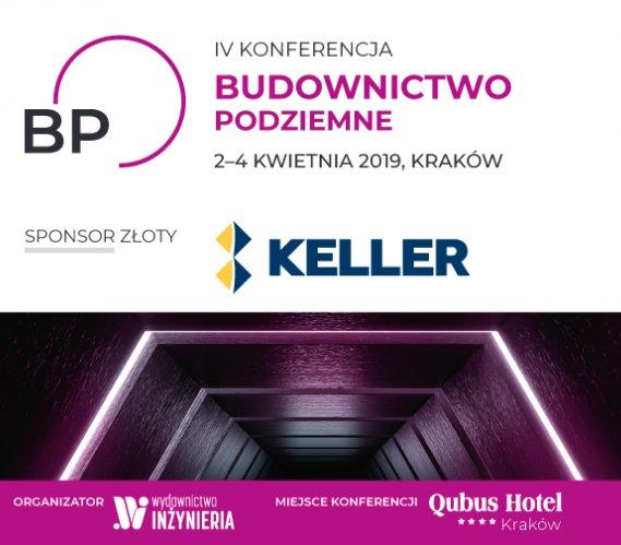 """Keller Polska Sponsorem Złotym IV Konferencji """"Budownictwo Podziemne"""""""