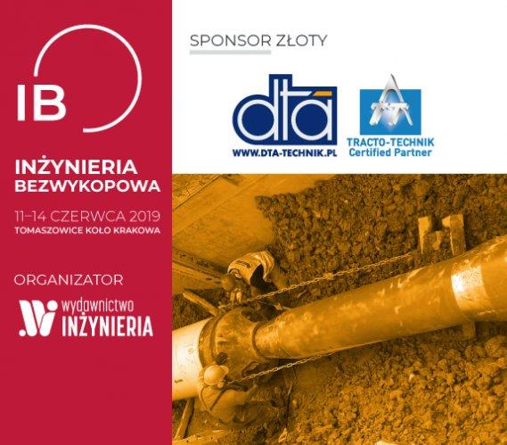 """DTA-Technik – Złoty Sponsor """"INŻYNIERII Bezwykopowej"""" 2019"""