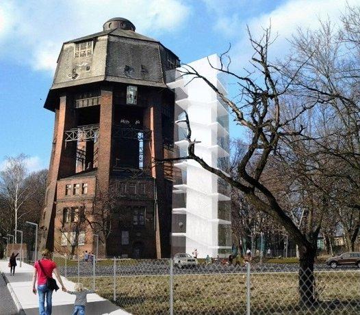Rozpoczęła się rewitalizacja unikatowej wieży ciśnień w Zabrzu