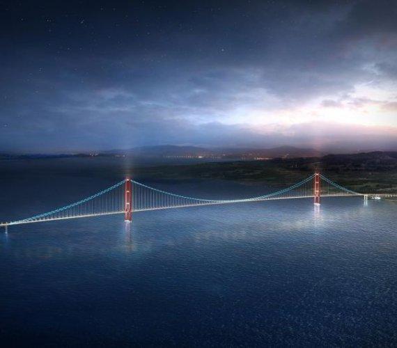 Trwa budowa mostu podwieszanego z najdłuższym przęsłem na świecie