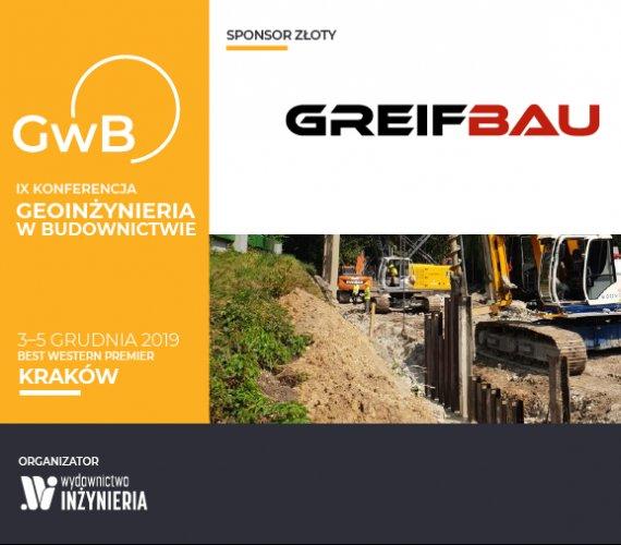 Greifbau Sponsorem Złotym Konferencji Geoinżynieria w Budownictwie