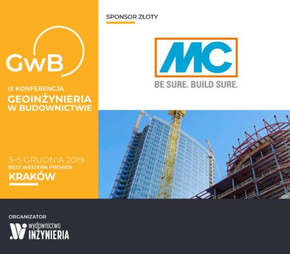 """MC-Bauchemie Złotym Sponsorem Konferencji """"Geoinżynieria w Budownictwie"""""""