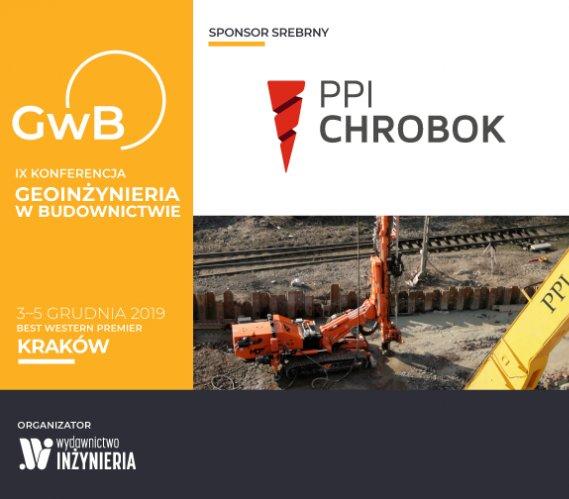 """PPI CHROBOK Srebrnym Sponsorem Konferencji """"Geoinżynieria w Budownictwie"""""""