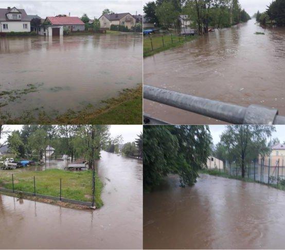 Gminy w zlewni Łęgu są narażone na powodzie. Fot. RZGW Rzeszów
