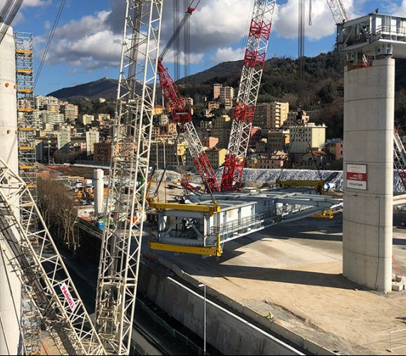 Nowy wiadukt Polcevera w Genui ma już wszystkie filary
