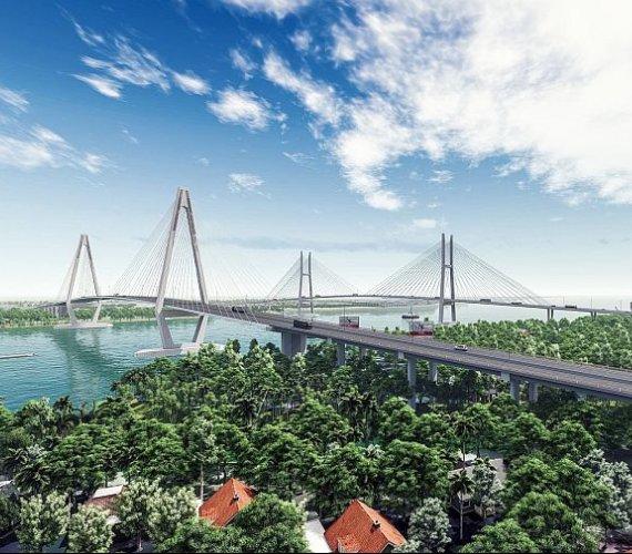 Imponujący obiekt mostowy w Wietnamie