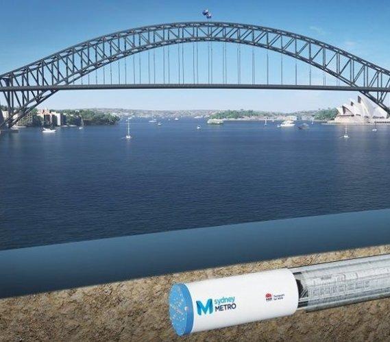Tunele metra w Sydney powstają pod zatoką