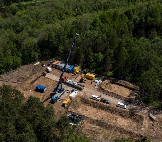 Gazociąg Polska–Litwa: trwają przygotowania do przewiertu HDD pod Wilią