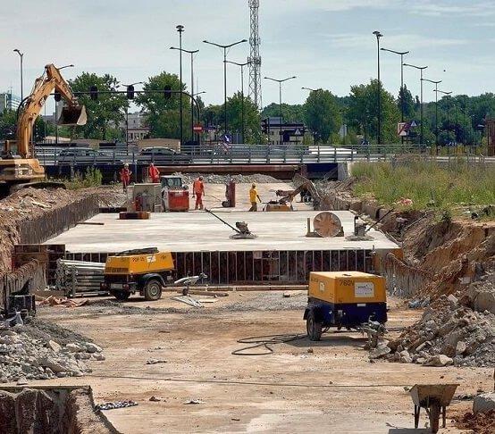 Budowa podziemnej ulicy w Łodzi [zdjęcia]