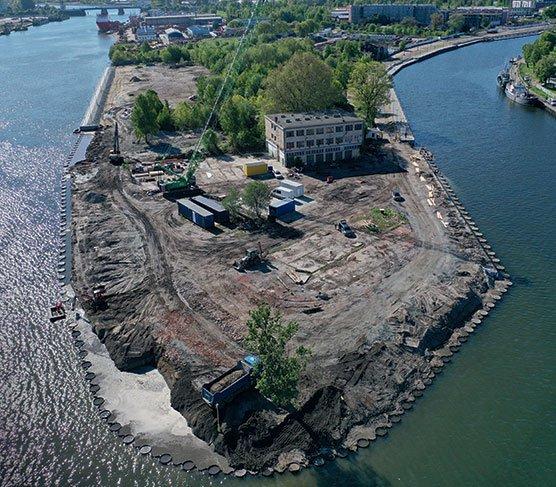 Rozwiązania stalowe w konstrukcjach hydrotechnicznych – budowa nabrzeży