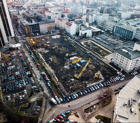 Złożone prace geotechniczne na terenie Global Office Park  w Katowicach