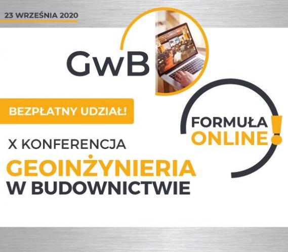 """Jubileuszowa konferencja """"Geoinżynieria w budownictwie"""": 100% online!"""
