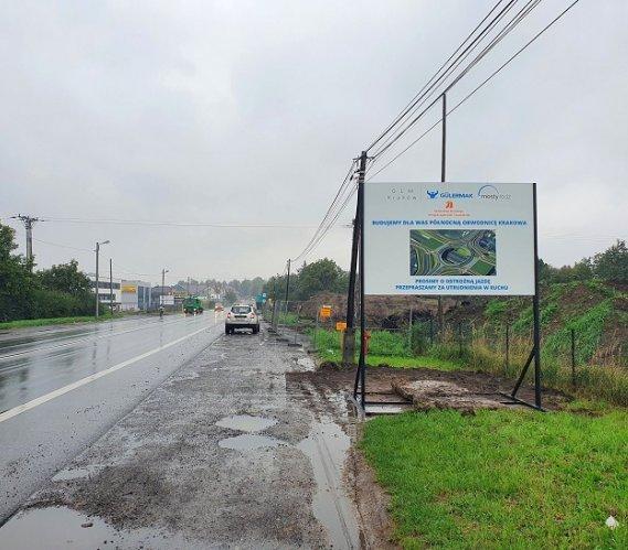 Palowanie na budowie Północnej Obwodnicy Krakowa