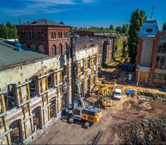 Wzmocnienie podłoża w Łodzi. Wybrano kolumny DSM