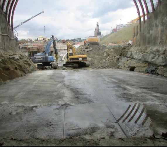 Zakopianka: na budowie tunelu praca wre [zdjęcia]