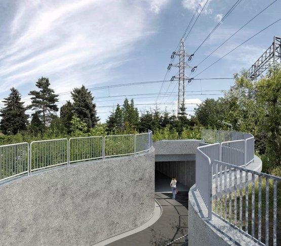 Kraków chce zbudować układ z tunelem i kładką [wizualizacje]