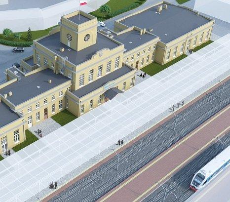 Modernizacja dworca kolejowego w Wielkopolsce [wizualizacje]