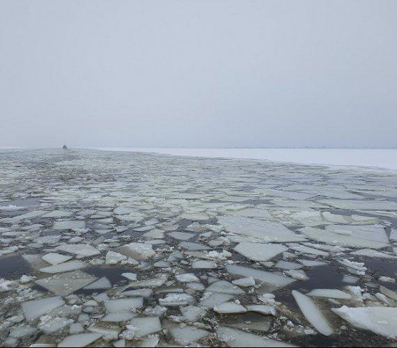 Lodołamanie na Szczecińskim Węźle Wodnym