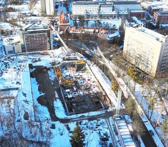 Obudowa wykopu na budowie centrum dla Politechniki Gdańskiej