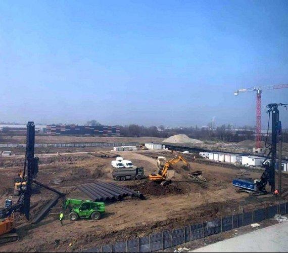 Kraków: zabezpieczenie wykopu w gruntach słaboprzepuszczalnych
