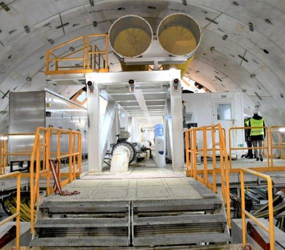 Wyspiarka wydrążyła już ponad 100 m tunelu w Świnoujściu [zdjęcia]