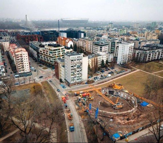 Warszawa: ściany szczelinowe na budowie Rotunda Dynasy