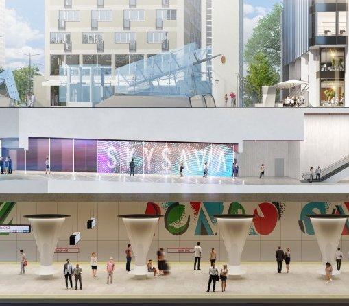 Warszawa: biurowiec Skysawa ma już połączenie ze stacją metra