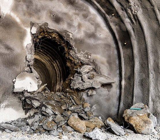 Zamrażanie gruntu na budowie tunelu pod przełęczą Brenner