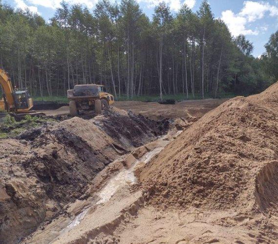 Wymiana gruntu na budowie obwodnicy Smolajn