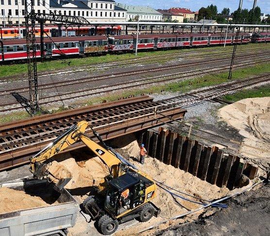 Skarżysko-Kamienna: wykopy na budowie przejścia podziemnego