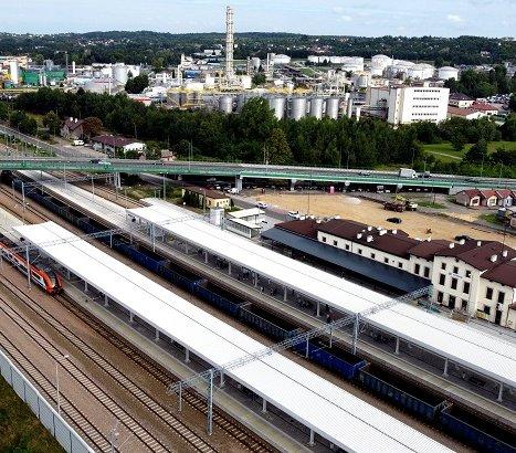 Modernizacja linii kolejowej Kraków–Katowice: gotowa stacja Trzebinia